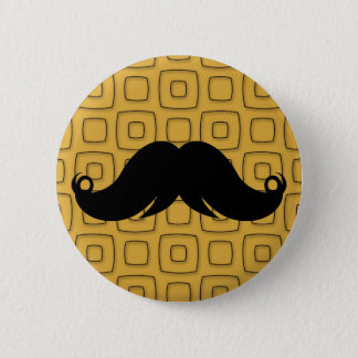 Retro Black Mustache 6 Cm Round Badge