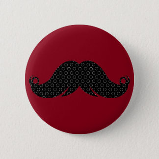 Retro Black Mustache Moustache Stache 6 Cm Round Badge