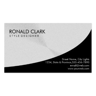 Retro Black Steel Silver Metal Financial Services Pack Of Standard Business Cards