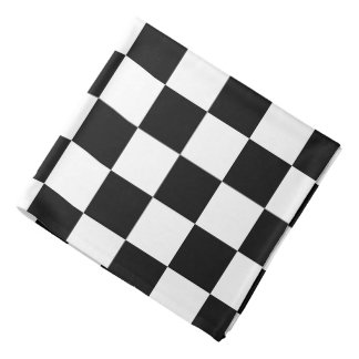 Retro Black/White Contrast Checkerboard Pattern Bandana
