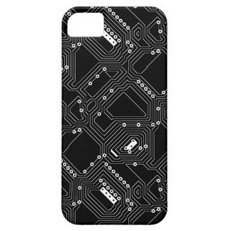 Retro Black White Cool Computer Circuit Board iPhone 5 Cases