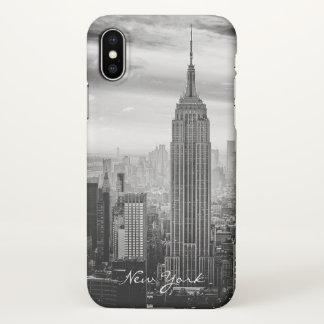 Retro Black White New York City iPhone X Case