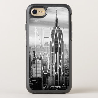 Retro Black White New York Skyscraper Landscape OtterBox Symmetry iPhone 8/7 Case
