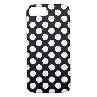 Retro Black White Polka Dots - iPhone 7 case