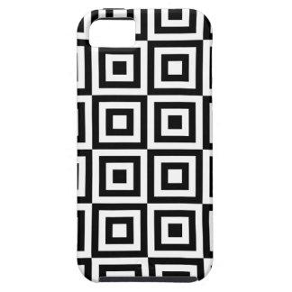 Retro Black & White Squares iPhone 5 Cover