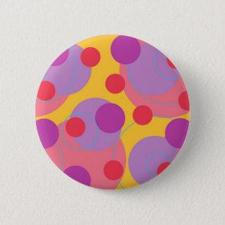 Retro Blackberry Fun Bubbly Dots Colorful Button