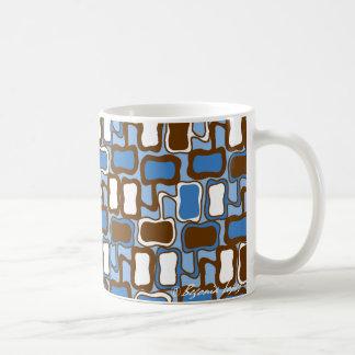 Retro Blob Pattern Coffee Mug