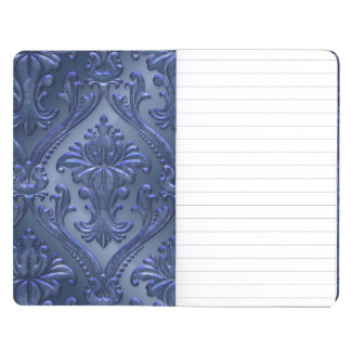 Retro Blue Aluminum Metal Journal