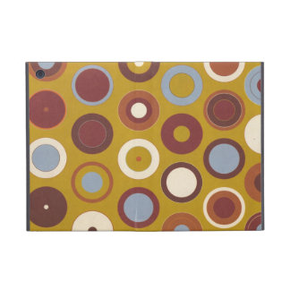Retro Blue and Brown Circles Pattern Case For iPad Mini
