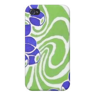 Retro Blue and Green Pattern Case For iPhone 4
