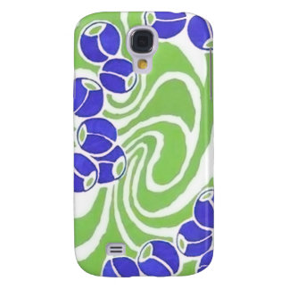 Retro Blue and Green Pattern Galaxy S4 Case
