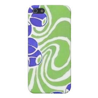 Retro Blue and Green Pattern iPhone 5 Case