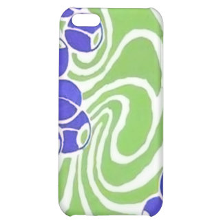 Retro Blue and Green Pattern iPhone 5C Cases