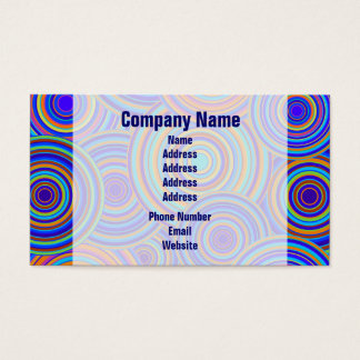 Retro Blue and Orange Circles Pattern Business Card