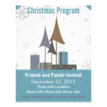 Retro Blue and Tan Christmas Program Flyer