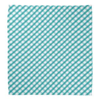 Retro Blue and White Gingham Check Kerchief
