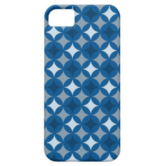 Retro Blue Circle Pattern iPhone 5 Case