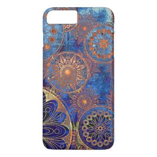 Retro blue compass phone case