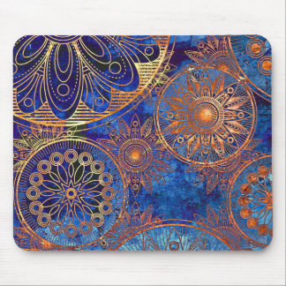 Retro blue compass phone case mouse mat