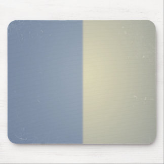 Retro Blue Cream Bicolor Pattern Mousepad