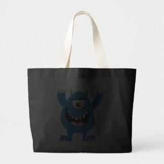Retro Blue Cute Monster Bag