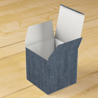 Retro Blue Denim Texture Favour Box
