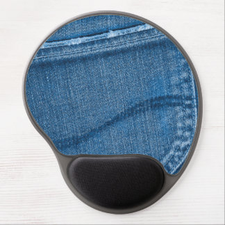 Retro Blue Denim Texture Gel Mouse Pad