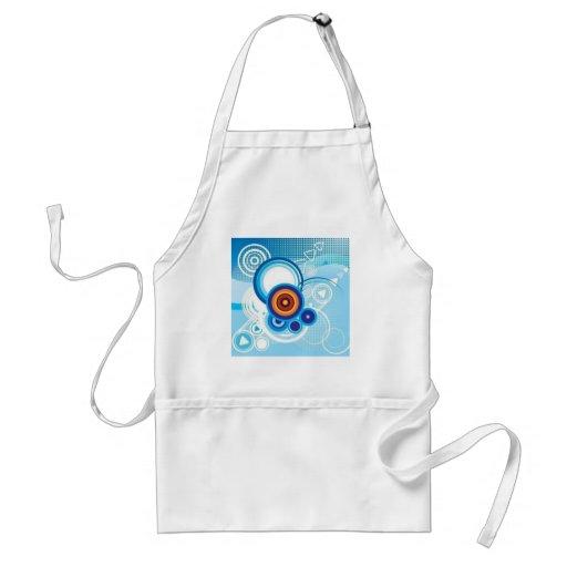 retro blue effect apron