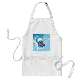 retro blue effect standard apron
