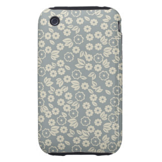 retro blue fabric iphone 3 3gs case