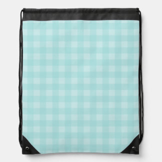 Retro Blue Gingham Checkered Pattern Background Backpacks