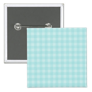 Retro Blue Gingham Checkered Pattern Background 15 Cm Square Badge