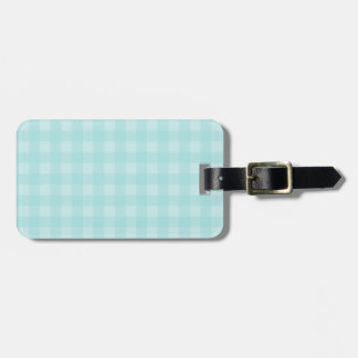 Retro Blue Gingham Checkered Pattern Background Bag Tag