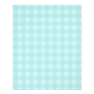 "Retro Blue Gingham Checkered Pattern Background 4.5"" X 5.6"" Flyer"