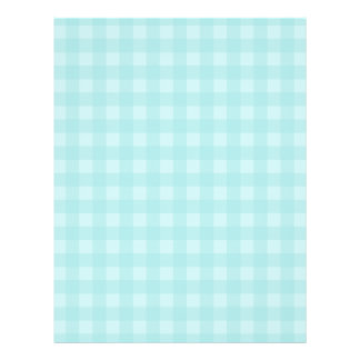 "Retro Blue Gingham Checkered Pattern Background 8.5"" X 11"" Flyer"