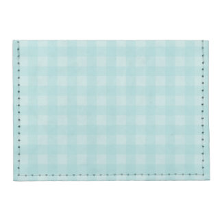 Retro Blue Gingham Checkered Pattern Background Tyvek® Card Wallet