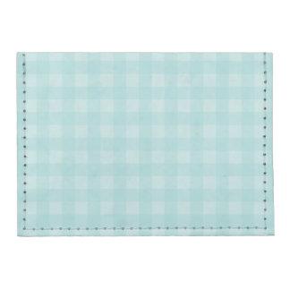 Retro Blue Gingham Checkered Pattern Background Tyvek® Card Wallet