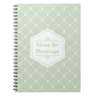 Retro Blue Green Floral Pattern Notebooks