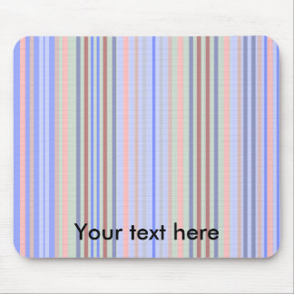 Retro blue green patterned stripes mouse pad