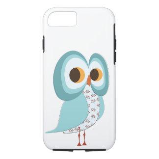 Retro Blue Owl Cellphone Case