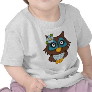 Retro Blue Owl T Shirt