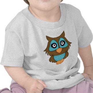 Retro Blue Owl T-shirt