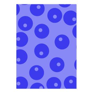 Retro blue pattern. Circles design. Business Card