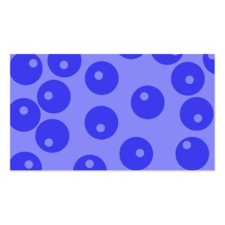 Retro blue pattern. Circles design. Business Card Templates
