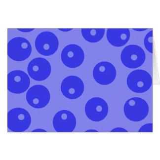 Retro blue pattern. Circles design. Greeting Card