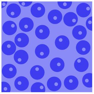 Retro blue pattern Circles design Cut Outs