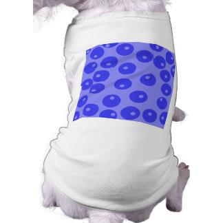 Retro blue pattern Circles design Pet Clothing