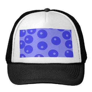 Retro blue pattern. Circles design. Trucker Hat