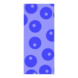 Retro blue pattern. Circles design. Personalized Invitation