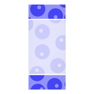 Retro blue pattern. Circles design. Personalized Announcement